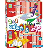 GRAPPLE DEALS 2 In 1 Colour & Wipe Vegetables And Fruits Easy To Learn For Kids.(Multi-Color)