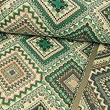 Gobelin Stoff Rautenmuster grün - Preis Gilt für 0,5 Meter