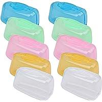 Ruix 10 Pièces Portable Etui Brosse a Dent, Protection de la Tête de Brosse à Dents Capuchon Coque de la Brosse à Dents…