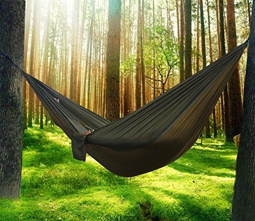 Hängematte Camping Hammock Single/Double Parachute, leicht und tragbar, mit extra Schlafaugenmaske Augenbinde Blindfold - 8