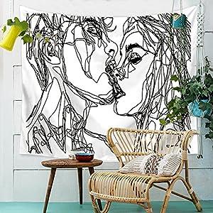 HANSHI Wandteppich Modern Weich Dünn Wandbehang Wandtuch Tischdecke Strandtuch Aus leichtem Polyster Wanddeko Dekoration…