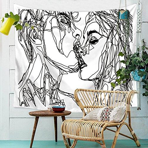 HANSHI Wandteppich Modern Weich Dünn Wandbehang Wandtuch Tischdecke Strandtuch Aus leichtem Polyster Wanddeko Dekoration für Ihr Zimmer HYC41-1 (Modern Wandbehang Wandteppich)