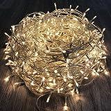 600er LED Lichterkette Tannenbaum Warmweiß für Innen & Außen Weihnachtslichterkette Weihnachtszeit Party transparentes Kabel