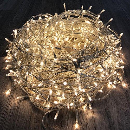 600er LED Tannenbaum Lichterkette Weihnachtslichterkette Warmweiß für Innen & Außen Weihnachtszeit Party transparentes Kabel