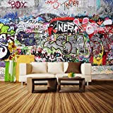 Fototapete Graffiti 3 Vlies Tapete Wandtapete XL 350 x 245 cm - 7 Teile - Vlies - Tapete - Moderne Wanddeko - Wandbilder - Fotogeschenke - Wand Dekoration wandmotiv24 Größe: