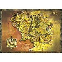 GB eye LTD, El Señor de los Anillos, Classic Map, Poster Gigante, 100 x 140 cm