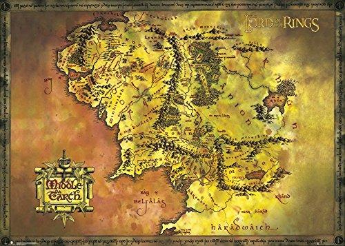 GB Eye LTD, El Señor Anillos, Classic Map, Poster