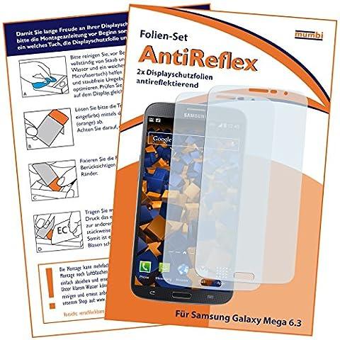 2x mumbi Displayschutzfolie für Samsung Galaxy Mega 6.3 Schutzfolie AntiReflex