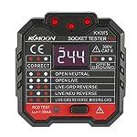 Andoer KKmoon KKM5 Digital Display Socket Detector Portable Circuit Polarity Voltage Tester Wall Plug Breaker Finder RCD...