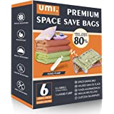 UMI by Amazon - Mixed Combo of Premium Vacuum Compression Space Saver Bags with Hand Pump (Small)