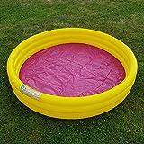 Unbekannt Kinder Planschbecken Jumbo Pool Rund 170 cm Swimmingpool Schwimmbecken Gelb