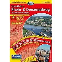 Eurovelo 6 Basel-Budapest pack of maps