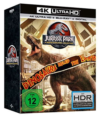 Jurassic Park 1-3 + Jurassic World - 4 Movie limited UHD Steelbook Collection [Blu-ray]