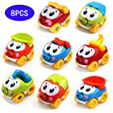 Amy&Benton Juguete De Coches para bebé 1 2 3 años, 8PCS Vehículos De Camiones para niños y niñas de Infantiles