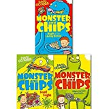 Monster and Chips Collection 3 Books Set By David O'Connell. (Monster and Chips Food Fright, Monster and Chips Night of the Living Bread and Monster and Chips)
