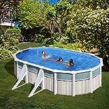 San Marina Pool–piscina in latta Capri 610x 375x 120cm + Sabbia di stagno chiarificatore