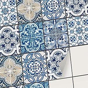 creatisto Fliesenfolie Fliesenaufkleber Mosaikfliesen - Klebefolie Aufkleber für Wand-Fliesen | Stickerfliesen - Mosaikfliesen für Küche, Bad, WC Bordüre (20x25 cm | 6 -Teilig)