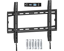 Amazon Brand - Eono Fixed TV Wall Bracket, Ultra Slim TV Wall Mount for Most 26-55 inch LED, LCD OLED and Plasma TV with VESA
