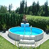 Poolzon Rundpool Fun-Zon 4,00 x 1,20m, Stahlwandbecken, Rundbecken