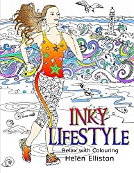 Inky Lifestyle: 50 anti-stress adult colouring book illustrations: Volume 6 (Inky Colouring books)