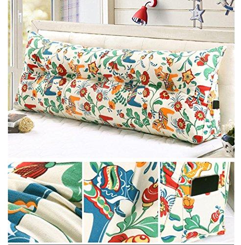 MFFACAI 60CM Baumwolle Leinwand Bett dreieckig großes Kissen Doppelte Paar Rücken Tatami Sofa Kissen Rückenlehne, 8 Diablo Wind Jacket