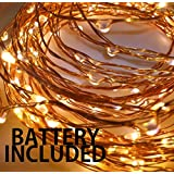 Copper 50 LEDs Decorative Fairy(Batteries Included) (WATERPROOF)String Lights 5m/16ft for Photography, Decorations, DIY, Christmas, Diwali, Decor