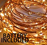 #3: The Kingdom Store Copper 50 Leds Decorative Fairy(Batteries Included) (Waterproof)String Lights 5M/16ft