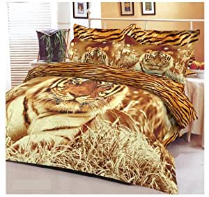 renforce bettw sche tiger life 155x220 baumwolle amazon. Black Bedroom Furniture Sets. Home Design Ideas
