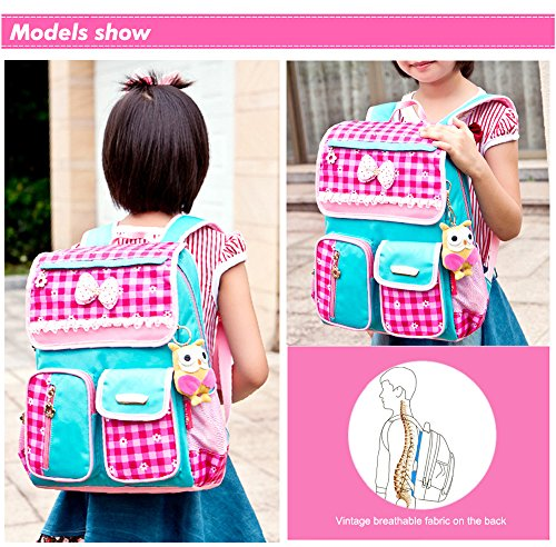 EssVita Kid Child Princess Style School Bags Backpack Waterproof Grils School Rucksackfor Primary Students (Style A Pink+Blue)