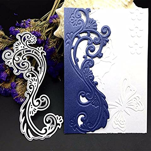 Gemini_mall DIY Cutting Dies Flower Metal Embossing Stencil For Album Scrapbooking Paper Card Art Craft (Lace Flower)