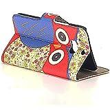 Tasche für HTC One M8 (2014) Book Style Red Eyes Schutz Hülle Buch