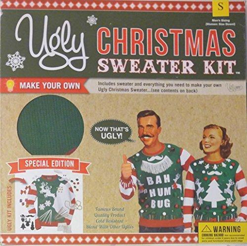 Ugly Weihnachts-Pullover Kit, Größe S Herren