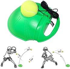 Fansport Tennis Trainer, Tennis Training Werkzeug Selbst Studie Übung Tennis Ball Rebound Ball Baseboard Sparring Gerät