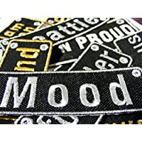 Emporium Embroidery Parches Rectangular Personalizados Customizados Plancha Bordado Chaquetas Uniforme Vaqueros Etiquetas Mediano