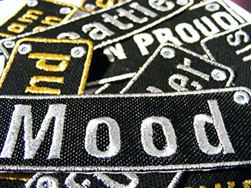 Toppa personalizzata con nome ricamato, da stirare o cucire su cotone, Cotone, Multicoloured, small