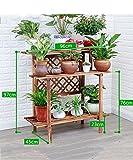 ZENGAI Korrosionsschutz Verkohlung Holz Blumenständer Blumentopf Regal Blumenregal Für Balkon, Innere (größe : G)
