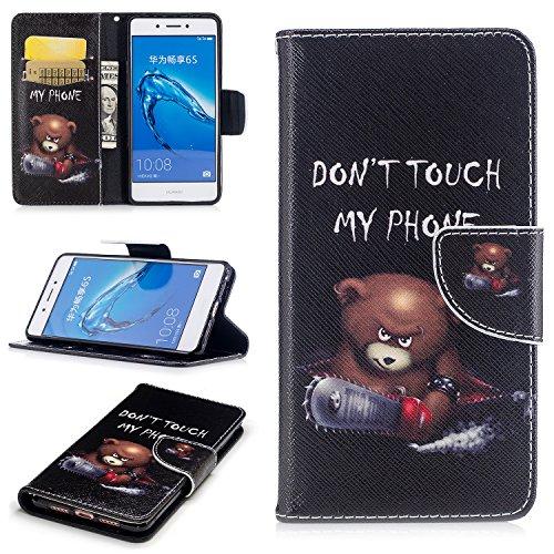 Huawei GT3 Hülle Leder, Lomogo Schutzhülle mit Muster Brieftasche mit Kartenfach Klappbar Magnetverschluss Stoßfest Kratzfest Handyhülle Case für Huawei GT3 / Honor 5C - BIFE24157 #9