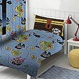 """Piraten Design von Die Geschenk scholars. Wende Kleinkind Bettdecke, Einzelbett Bettdecke, 54 """"Vorhänge 72"""" vorhänge. Spaß Kinder Jungen Mädchen Kleinkind Bettwäsche Set mit passender Kissenbezug"""