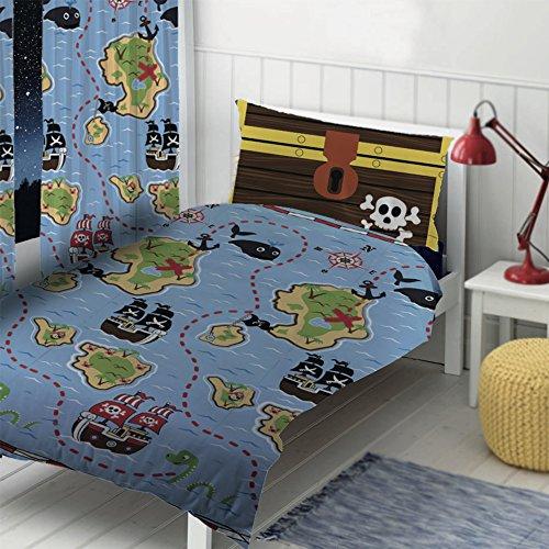 Piraten Design von Die Geschenk scholars. Wende Kleinkind Bettdecke, Einzelbett Bettdecke, 54...