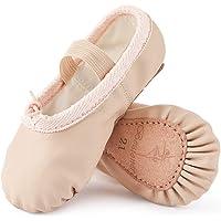 Scarpette da Danza Classica in Pelle Scarpe da Ballerina Ginnastica Ballo Pantofole per Bambina Ragazze e Donna