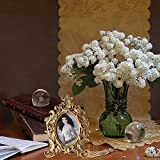 Giftgarden barocker Bilderrahmen im Format 10x15cm goldener ovaler Fotorahmen - 2