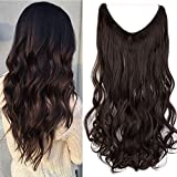 "20"" Extension Cheveux Ondulé Fil Invisible Fils Transparent Monobande - Extension Cheveux Synthétique 50CM(20 pouces) - Hair Extensions - Marron Foncé"
