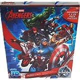 Marvel Avengers Super 3D Puzzle Pack Includes 4 X 24 Piece Puzzles by BeNeLux