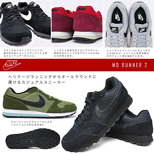 Nike  Md Runner 2, Sneakers Basses homme Multicolore (Cool Grey/white-wolf Grey-photo Blue)