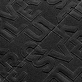 HEsdzML 58x70 cm 3D Englisch Brief Geprägte PE Schaum DIY Wand Room Decor Aufkleber Tapete - Schwarz