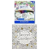 STAEDTLER 185 C24JB Noris Colour Colouring Pencils, Exclusive Johanna Basford Edition - Assorted