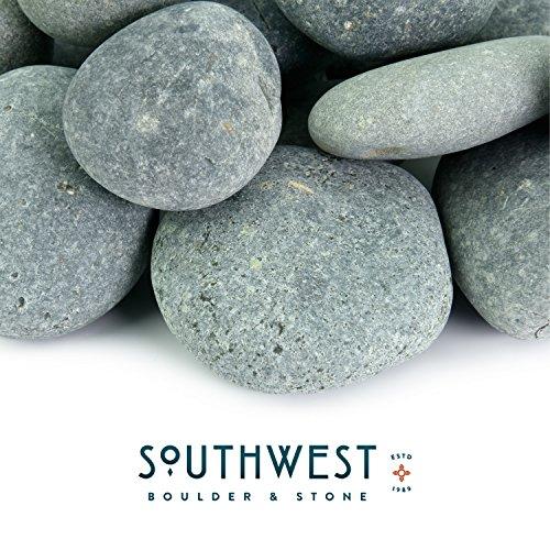 Fire Pit Essentials Mexikanischen Beach Pebbles-2000Pfund von Glatten Unpolished Steine-100% natürlichem Bio Pebbles handverlesenes-Premium Accent für Garten und Landschaft Design