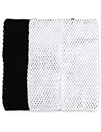 "Tube Top - TOOGOO(R) Tube Top For Girl Child Tutu Dress Hook Material 12"" Black White"