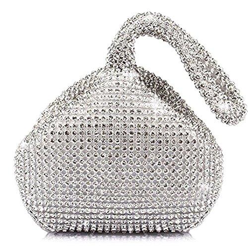 HT Evening Bag, Poschette giorno donna Silver