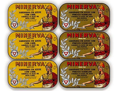 Sardinen in Olivenöl Variation | 6 x 120 g | Minerva | Portugal